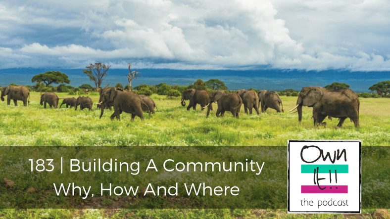 Own It! 183 | Building A Community: Why, How And Where