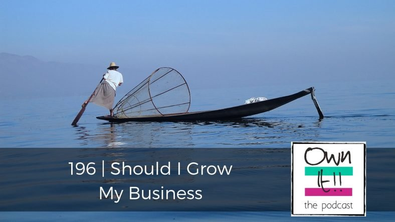 Own It! 196 | Should I Grow My Business?