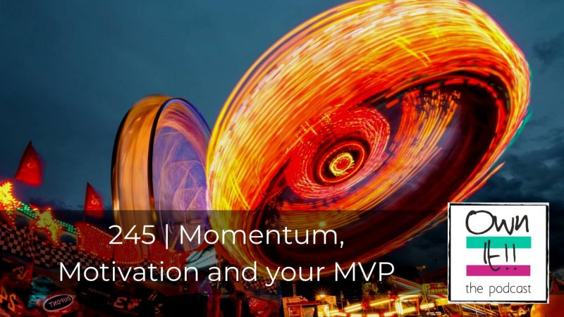 245 | Momentum, Motivation and your MVP